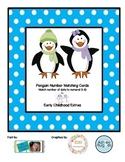 Penguin number matching cards