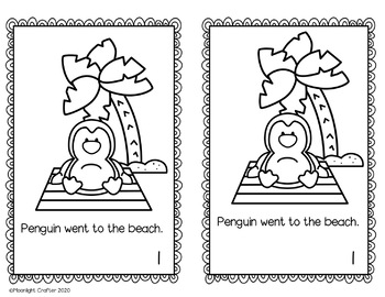 Penguin on Vacation Book Companion