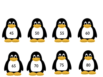 Penguin skip counting cards