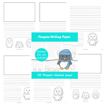 Penguin themed writing paper