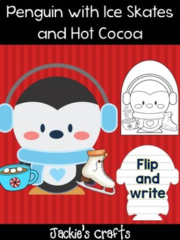 Penguin with Hot Cocoa and Ice Skates - Jackie's Crafts, Winter Activity