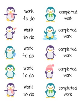 "Penguin ""work"" labels"
