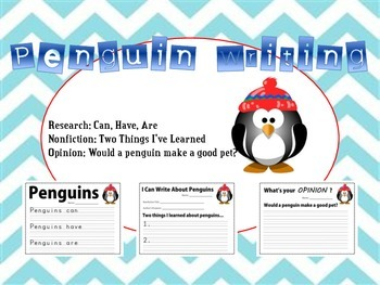 Penguing Writing - Research, Informative, Opinion - Kindergarten, First Grade