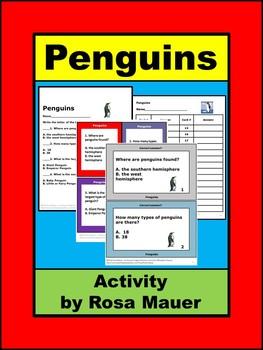 Penguins Task Cards