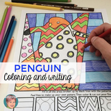Penguins Interactive Coloring Sheets for your Winter January Activities!