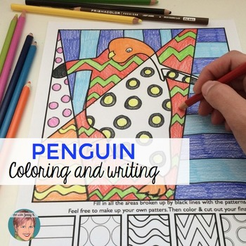 Penguins Interactive Coloring Sheets for your January Wint