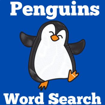 Penguins Activity | Penguins Word Search | Penguins Unit | Penguins Winter