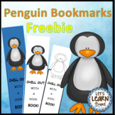 Penguins Bookmarks Freebie, Antarctic Animals Fun, Winter Activities