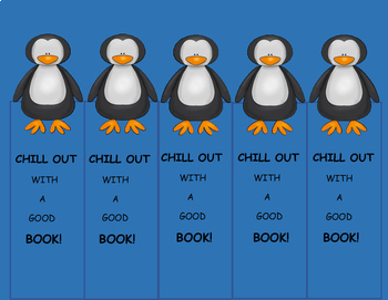 Penguins Bookmarks Freebie, Antarctic Animals Fun, Winter Activities