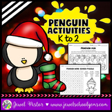 Christmas Worksheets (Penguin Activities for Kindergarten,