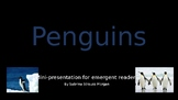 FREEBIE!! Penguins:  A Mini-Presentation for Emergent Readers