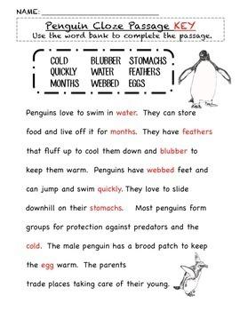 Penguins: A Nonfiction Common Core Aligned Unit