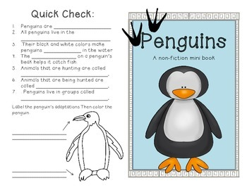 Penguins- A non-fiction minibook