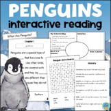 All About PENGUINS Reading Comprehension Interactive Activity