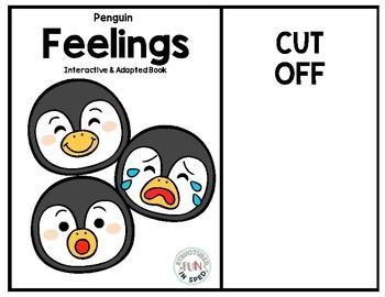 Winter Activities Penguin Feelings for Preschool, Pre-K and Special Needs
