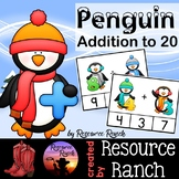 Penguins Addition Clip Cards to 20