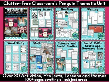 Penguins (An Integrated Mega-Unit for Bigger Kids) Common Core ELA Math Science