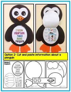 Penguins- Art Activity- Life Cycle of a Penguin+ Information Art-Differentiated