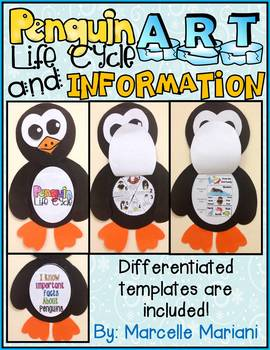Penguins- Art Activity- Life Cycle of a Penguin+ Informati