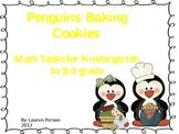 Penguins Baking Cookies Math Tasks
