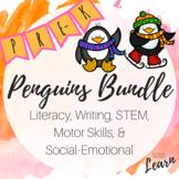 Penguins Bundle -Literacy, Writing, Math, Social Emotional