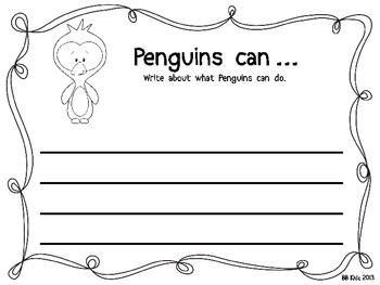 Penguins Can... What can Penguins do? Write about it. / Winter