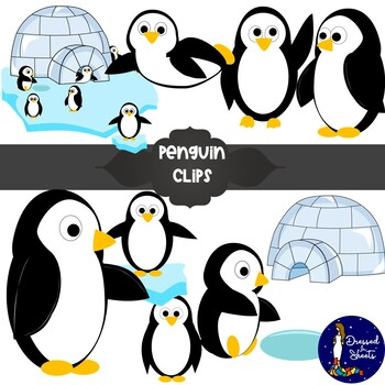 Penguins! Clip Art