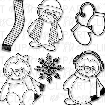 Penguins Clip Art (Digital Use Ok!)