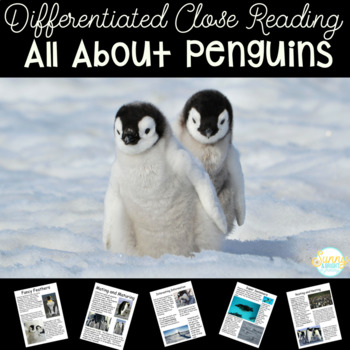 Penguins Differentiated Texts Nonfiction Close Reading