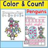 Penguins Color and Count Activities