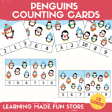 Penguins Count Clip Cards Numbers 1-10 Count Activity Pres