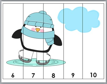 Penguins Math Number Puzzles - Numbers 1-10