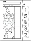 Penguins Cut & Match Worksheets   Numbers 1-5