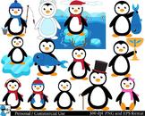 Penguins Digital Clip Art Graphics 21 images cod45