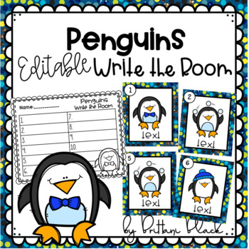 Penguins- Editable Write the Room