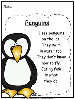 Penguins FREE Poetry Book Pages