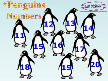 Penguins - Fun Math - addition - subtraction - number