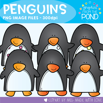Penguins Clipart - Graphics From the Pond