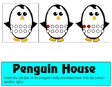 Penguins  House Ten Frame - Counting 0-10 Mats - Learning