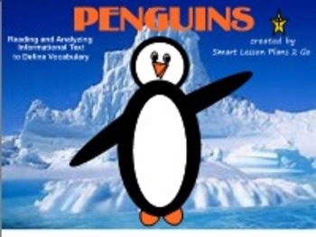 Penguins-Informational Text Booklet & Fun Literacy Activities-SB 11.4,Windows OS