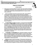 Penguins Informational Text Rigorous Reading Comprehension Assessment