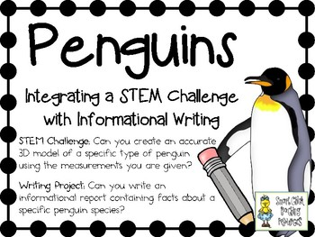 Penguins!  Integrating a STEM Challenge with Informational Writing