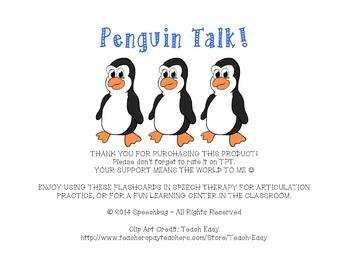Penguins Like... P Articulation Practice!