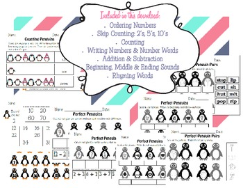 Penguins: Literacy & Math Activities & Tacky the Penguin!!
