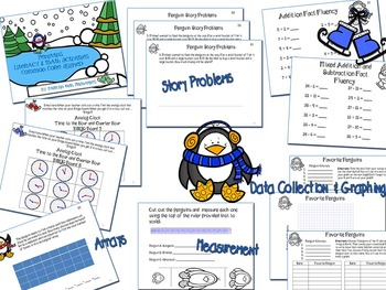 Penguins Literacy and Math Activities Common Core Aligned