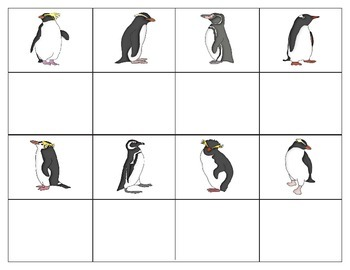 Penguins:  Mini Matching Cards