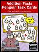 Kindergarten Addition Facts to 10 Winter Math Games Addition Task Cards PENGUINS