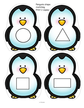 Penguins Math and Literacy Activities and Centers for Preschool and Pre-K