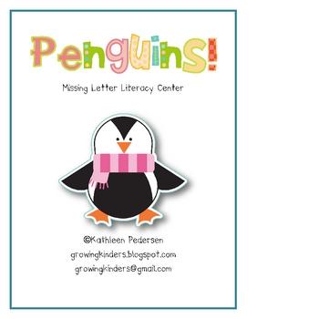 Penguins! Missing Letter Game/Literacy Center