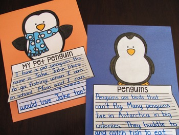 Penguins Writing Craft Activities